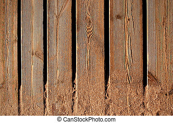 Planks - Woody planks whit sand of the beach