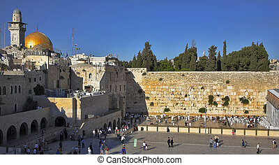 Sanctuary - The Western wall of the Temple in Jerusalem...
