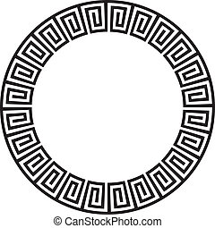 Circular ancient aztec goemetric ornate design