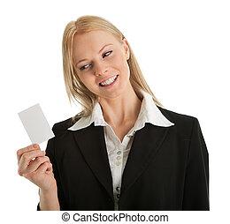 從事工商業的女性, 藏品, 卡片, 空白