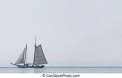 sailboat in Charleston - large sailing boat with guests...