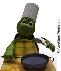 Tortoise Caricature as a Chef
