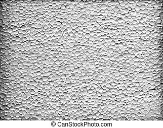 Styrofoam - A closeup macro texture of white extruded...