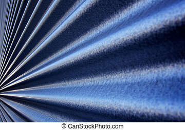 Converging Corrugated wall - Blue steel metallic corrugated...