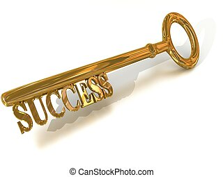 Key to success - golden Key to success