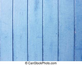 wood strips painted blue, old door detail