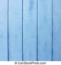 wood strips painted blue, old door detail