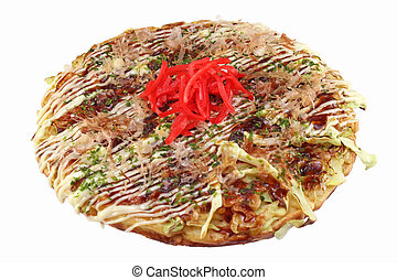 Okonomiyaki (Japanese Pancake) - Sizzling Okonomiyaki...