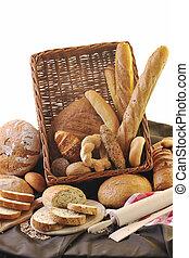 alimento, fresco, Grupo, pão