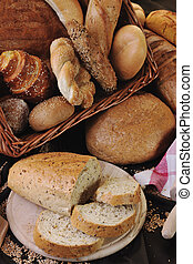 fresh bread food group - fresh healthy natural bread food...