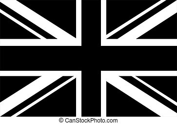 Black & white Union Jack flag
