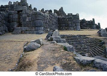 Inca ruins in Sacsayhuaman, Peru
