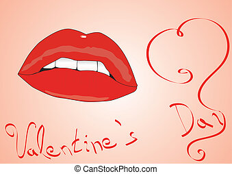 realistic lips vector eps8