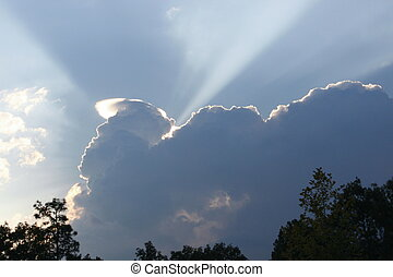 Silver Lining in Melrose, Florida - The sky lights up behind...