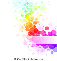 rainbow bubbles - Colorful transparent rainbow bubbles...