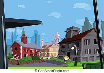 Scenery buildings