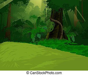 Artistic jungle background - A digital art
