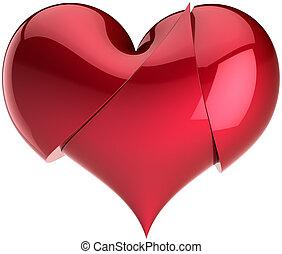 Heart broken up for three parts - Heart broken up for three...