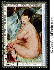 Postage stamp. - REPUBLICA DE GUINEA ECUATORIAL - CIRCA...