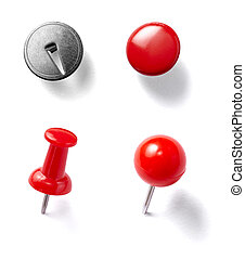 push pin thumbtack tool office business - collection of...