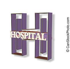 hospital - 3d hospital letter