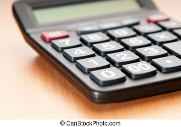 Business concept with accounting calculator