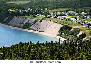 View of small town in Newfoundland - Beautiful view of a...