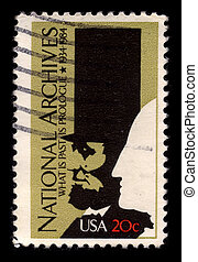 Postage stamp. - USA - CIRCA 1984: A stamp printed in USA...