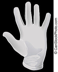 white apm glove - The white apm glove Illustration in vector...