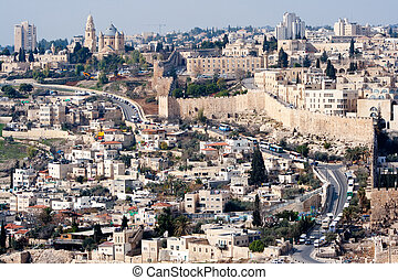 Jerusalem - Israel - View on the old city of Jerusalem