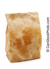 Greasy Lunch - brown paper bag with grease spots