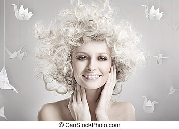 Smiling blond beauty