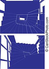 Spiral Stairway Vector