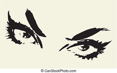 Beautiful Woman's Eyes Vector