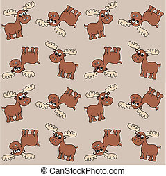 seamless pattern - seamless moose pattern