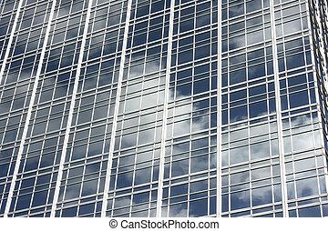Glass facade - Skyscapers glass facade in Buenos Aires,...