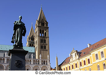 Cathedral in Pecs - Digital Photo of the historic Cathedral...