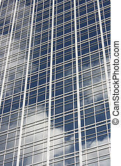 Glass facade - Skyscapers glass facade in Buenos Aires,...
