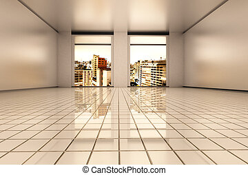 Sao Paulo Apartment - Interior visualisation of a empty...
