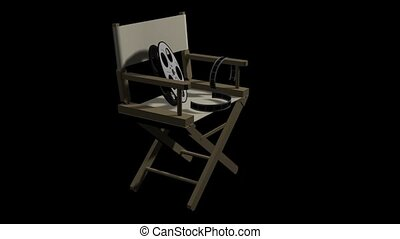 Directors Chair and Movie Reel
