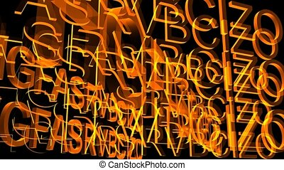 Rotating Wall of Letters