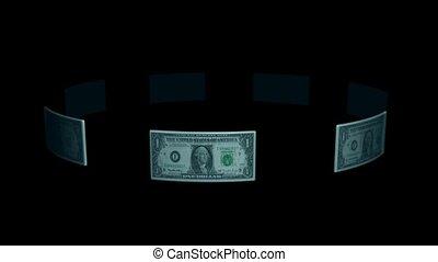 Circle of Dollar Bills