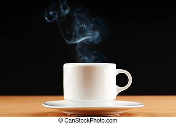 Cup of tea with steam