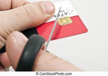 Credit card - Male hand cut credit card