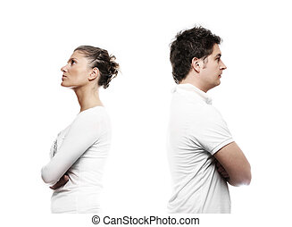 Young couple with a problem - A picture of a young couple...