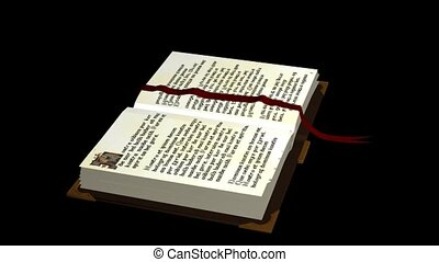 Book with Red Bookmark