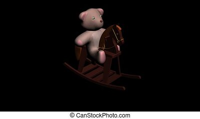Teddy Bear on Rocking Horse