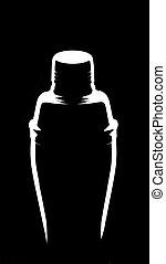 shaker on black