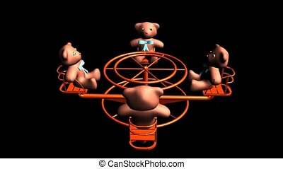 Teddy Bears on a Merry Go Round