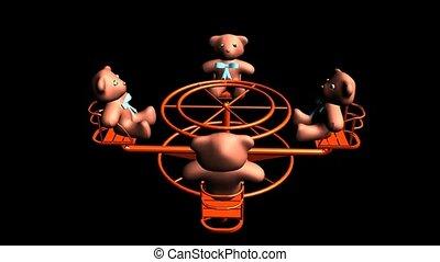 Teddy Bears on a Merry Go Round